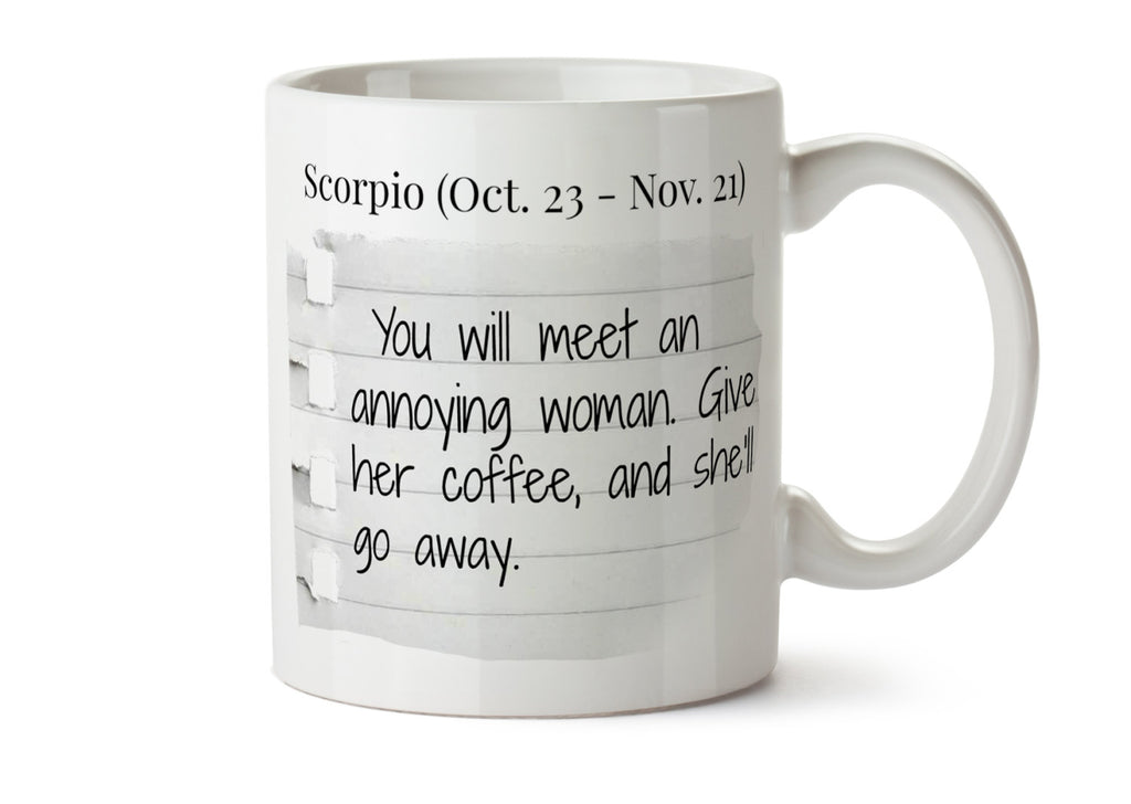 You will Meet An Annoying Woman Quote - Lorelai Gilmore and Luke Danes Coffee Mug -  Add Own Text to Personalize - Gilmore Girls