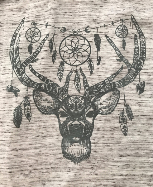 Flowy Super Soft Racerback Tank Deer Dreamcatcher Spirit Animal Perfect for Yoga or Work Out Tee T Shirt