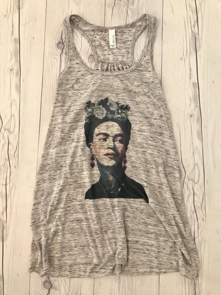 Flowy Super Soft Racerback Tank FRIDA KAHLO Perfect for Yoga or Work Out