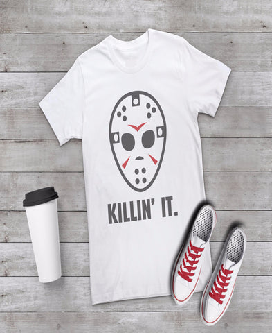 Killin' It Funny Halloween Funny T-shirt Tee Women's Ladies Shirt