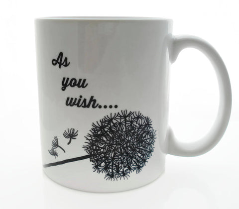 As you WISH Dandelion - 11 ounce DISHWASHER / Microwave Coffee Mug - Superb GIFT - May Add Own Text