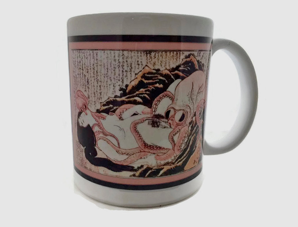 Dream of the Fisherman's Wife - Octopus Pleasuring a Woman  - 11 ounce DISHWASHER / Microwave Coffee Mug - Superb GIFT - May Add Own Text