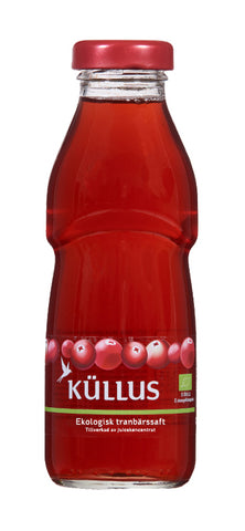 Organic wild cranberry juice drink