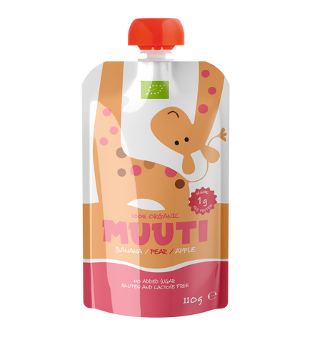 MUUTI Organic Fruit puree with rice protein