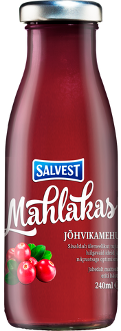 """Mahlakas"" Cranberry drink with pulp"