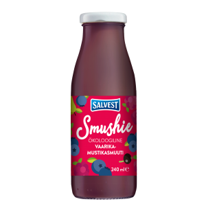 Smushie Organic Raspberry and blueberry smoothie
