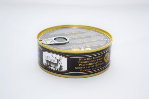 Canned deer meat