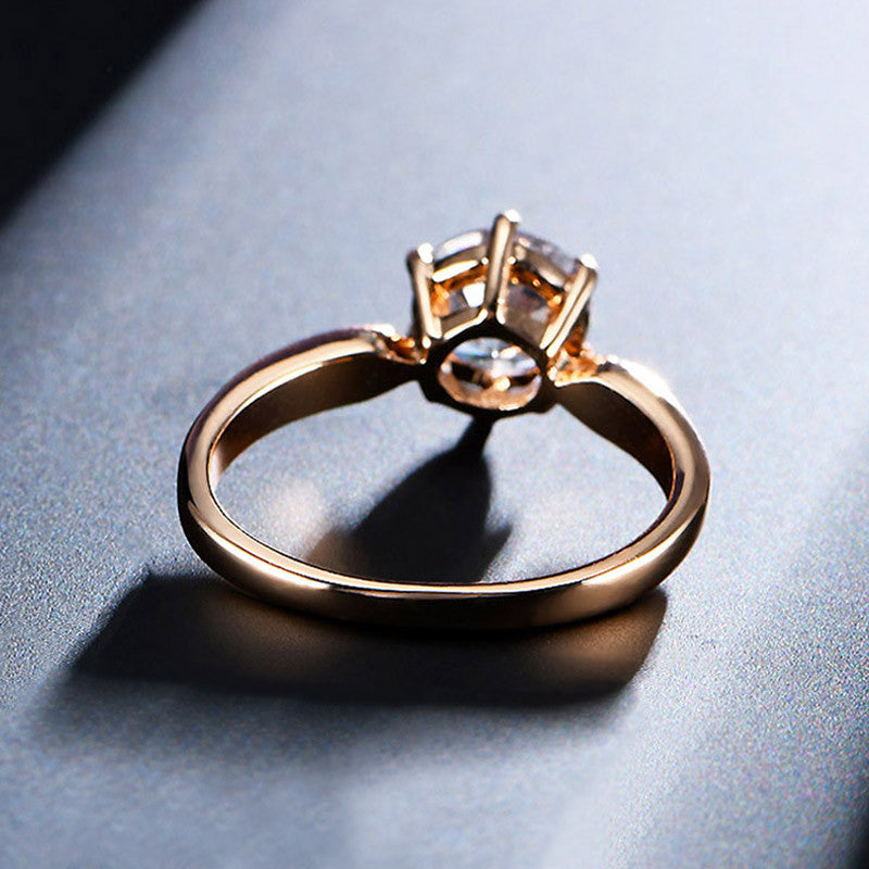 1.75ct AAA Zircon Engagement Rings for women Rose gold color ...