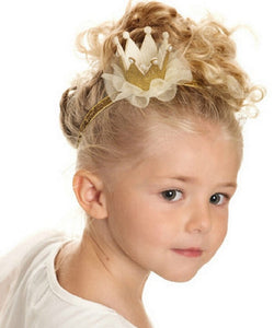 1 PC 2016 Newborn Mini Felt Crown+Glitter Elastic Lace Pearl Headband For Girls Hair Accessories Shiny Crown Princess Hair Clip