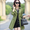 1 PC Lace Trench Coat Spring Autumn New Long Turn-down Collar Plus Size Double Breasted Outerwear 2017 Women Casual Solid SY015 - upcube
