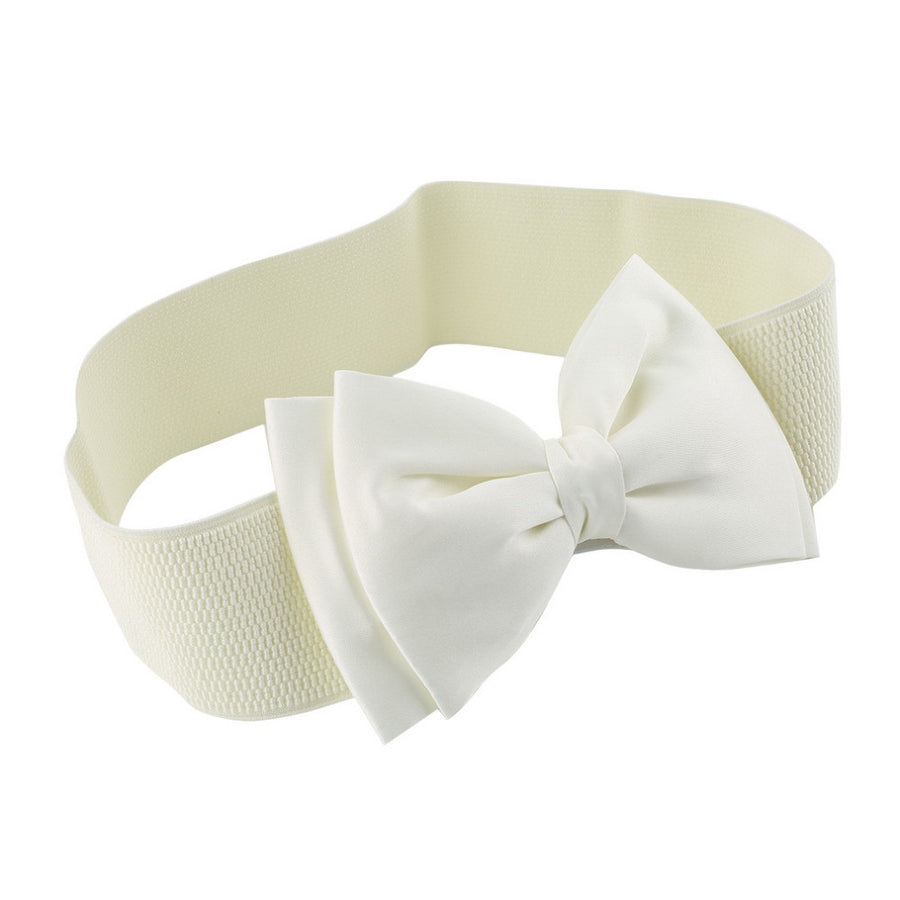 1 PCS Hot Sale Women Girls Bowknot Elastic Bow /Wide Stretch Buckle Waistband Waist Belt 2016 Fashion