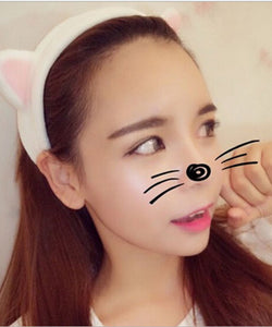 1 Pc Cotton Cat Ears Hair Clips For Women Girls Soft Cartoon Hairband girls headbands Hair Hoop Hair Accessories bandeau cheveux