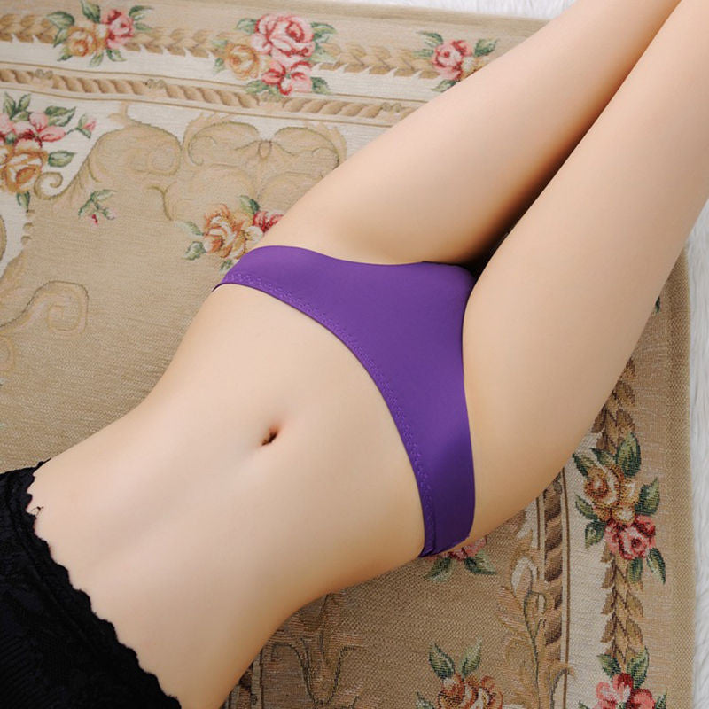 1 pc Women Lady Sexy intimates Thongs Nylon Spandex Briefs Underwear G-string Seamless 9 colors HOT