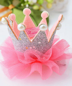 1 pcs Cute Lovely Girls Crown Princess Hair Clip Lace Pearl Shiny Star Headband Hairpins Hair Accessories the cheapest products