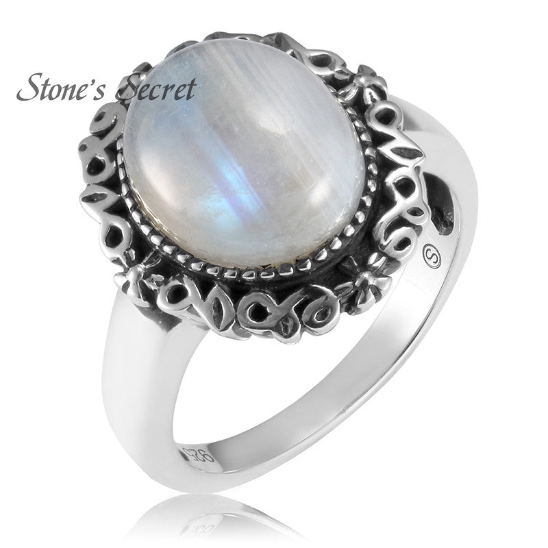 10*12mm Moonstone Rings High Quality Twilight Fine Jewelry Bella Same 925 Silver For Gifts - upcube