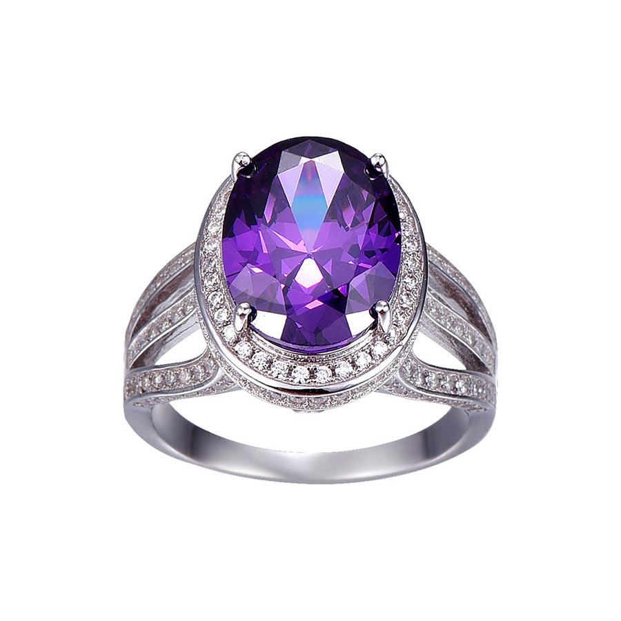 10.2ct Natural Amethyst Fire Mystic Topaz Solid 925 Sterling Silver Ring Cocktail Vintage Jewelry Promotion Brand 2016 New - upcube