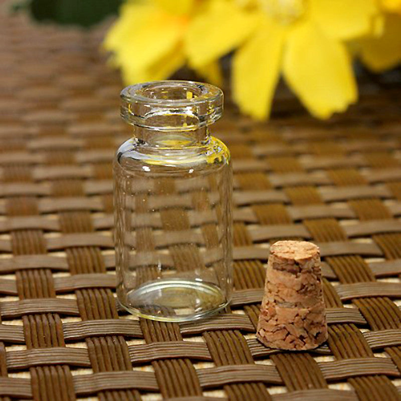 10 pcs Cute Mini Clear Cork Stopper Glass Bottles Vials Jars Containers Small Wishing Bottle#ZH210 Storage Bottles Jerry 's Fashion World- upcube