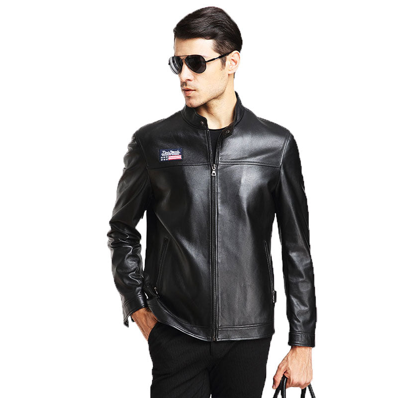 100% Brand Genuine Leather Jacket Male Plus Size 4XL/5XL Man Leather Jacket  Jaquetas Masculinas Inverno Couro Motorcycle Coat - upcube