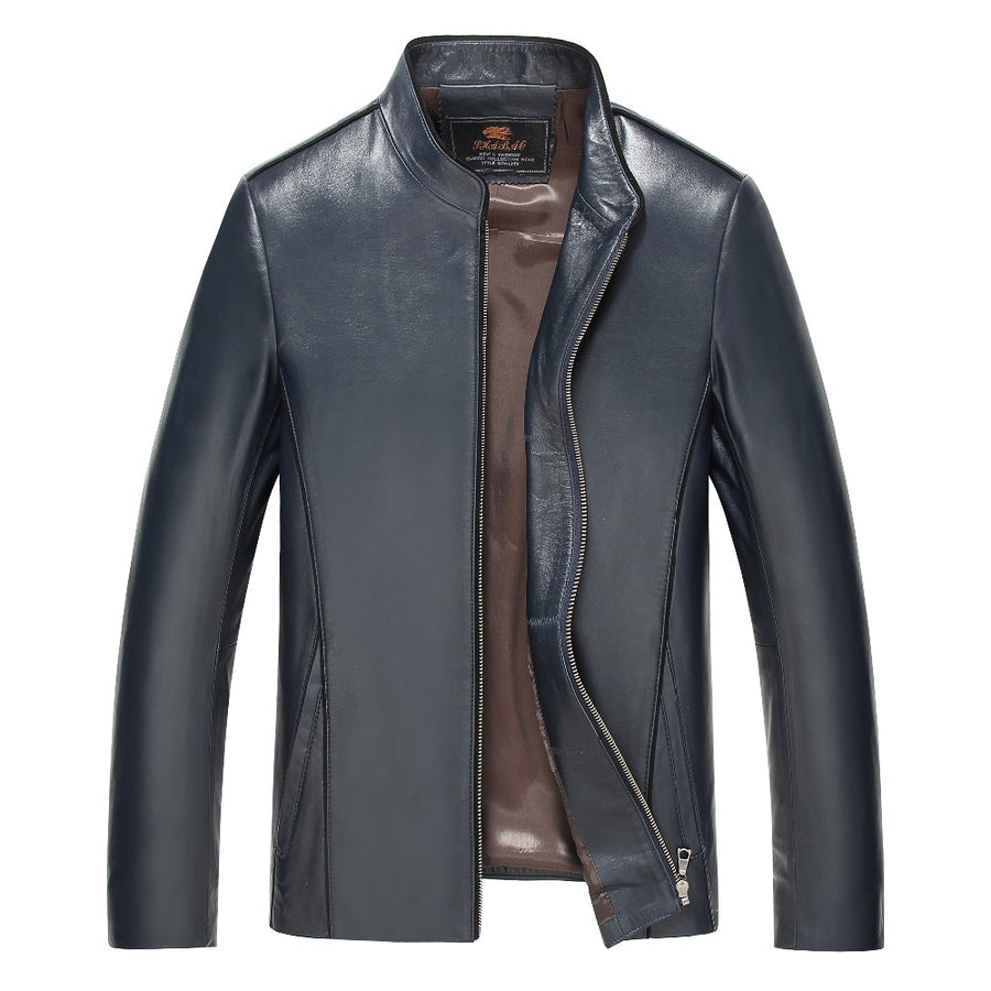 100% Brand Genuine Leather Jacket Male Plus Size 4XL Man Leather Jacket Jaquetas Masculinas Inverno Couro Motorcycle Coat - upcube