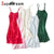 100% REAL silk nightgowns women Sexy Spaghetti Strap sleepdress Solid SATIN nightdress nightie Summer style pink white black