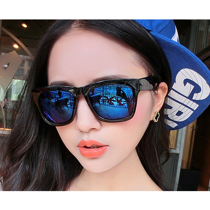 -100 to -400 Myopia prescription sunglasses sauqre sun glasses blue mirror eyewear sunglasses for women men Sunglasses JUNYI glasses Store- upcube