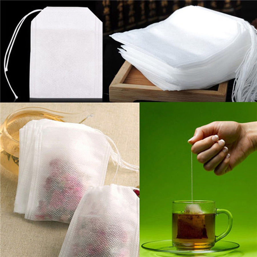 100Pcs/Lot Teabags 5.5 x 7CM Empty Scented Tea Bags With String Heal Seal Filter Paper for Herb Loose Tea Bolsas de te - upcube