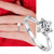 Women Fashion Bling Rings Plating White Gold Rings Wedding Crystal Diamond Rings Charm Jewelry