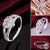 Women Fashion 925 Sterling Silver Rings Bling Crystal Heart Zircon Rings Wedding Rings for Women Size 7 8 9 Jewellery