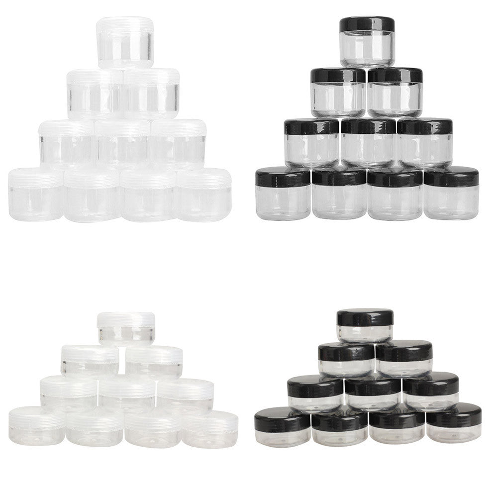 10pcs Pack Cosmetic Empty Jar Pot Eyeshadow Makeup Face Cream Containe Frosted 10gr Container Mini Box 10