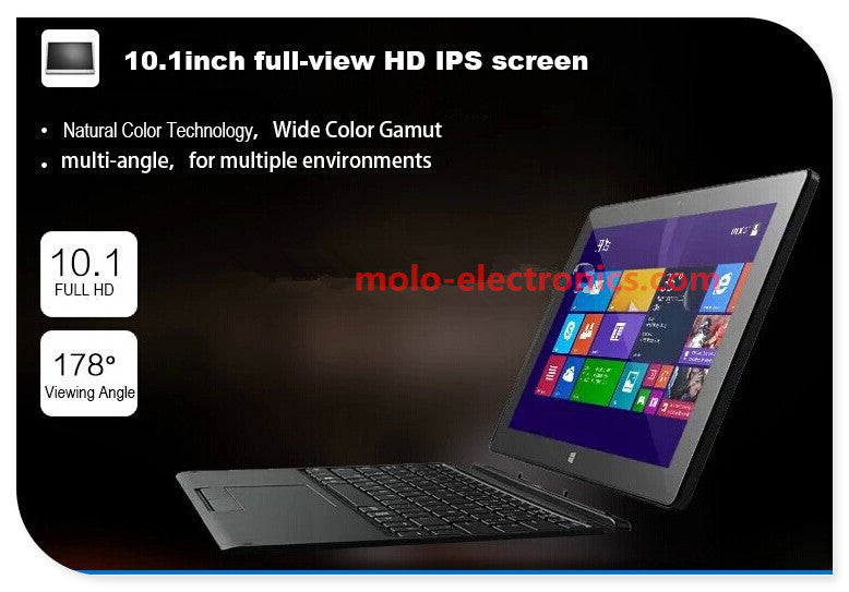 10inch mini laptop Windows 10  netbook Z8350 quad core  processor touch capacitive screen dual cameras notebook computer Laptop MOLO Technology Co.- upcube