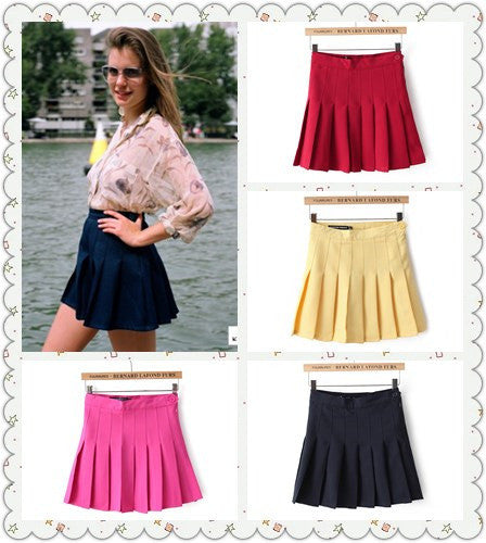 11 colors!2017 New American Apparel Pleated Skirt High Waist Ball Mini Skirt sexy Saias Femininas plus size Skirts Mujer TB313 - upcube