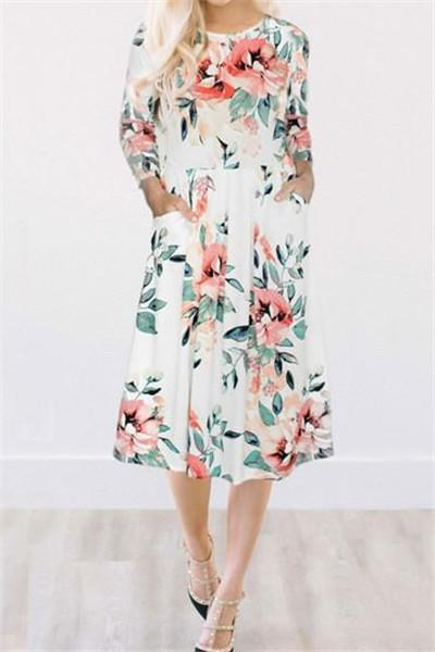 167c745ea Chicnico Fairytale Dream White Floral Print Dress