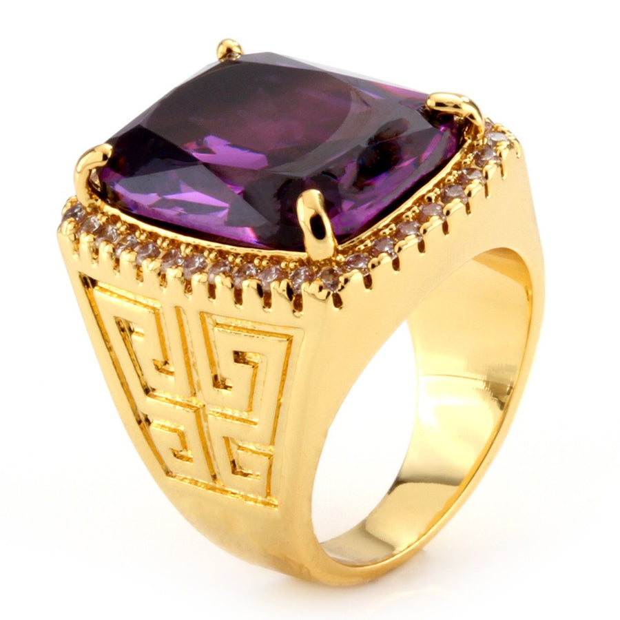 14K Gold Amethyst Crown Julz Ring - upcube