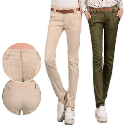 #1602 Casual pants women 2017 Spring summer Thin Slim Pantalon femme Pencil pants Harem Womens pants Formal trousers Khaki/Army - upcube