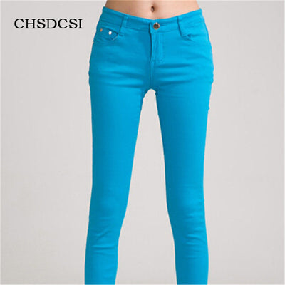 70ca54a6d7f73 18 Colors Jeans 2017 New Sexy Women Pants Spring Summer Fashion Pencil Pant  Lady Skinny Long