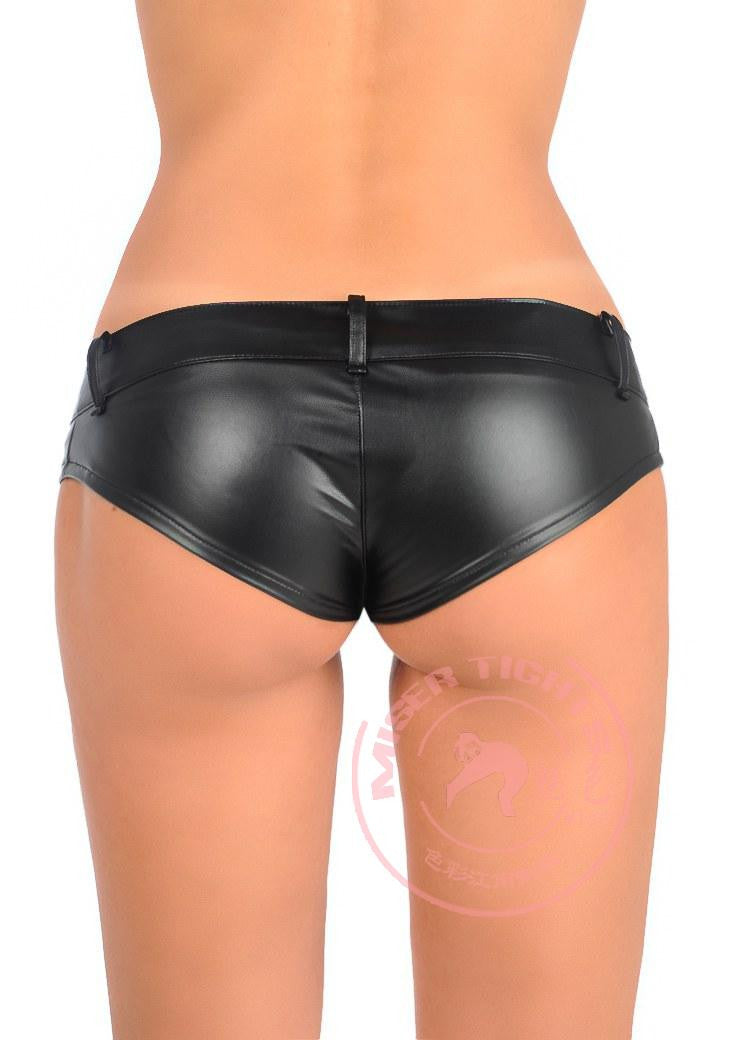 1PCS PU High Cut MINI Shorts Faux Leather Booty Shorts Micro Mini Jeans Cheeky Bikini Hot Short Pants Bottom Short FX1052