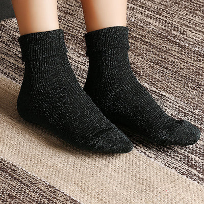 1Pair Fashion Women Winter Sock Silver Onion Flanging Heap Tube Socks New Socks Shanghai Fashion Shopping Mall- upcube