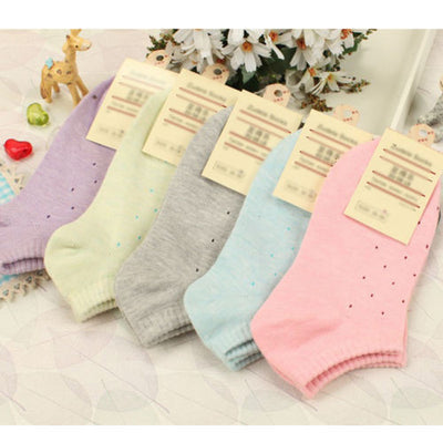 1Pair Women's Fresh Cute Polka Dot Candy Colors Cotton Ankle Short Warm Socks Soft for All Seasons Socks Cool&Good Fashion Watch Co.,Ltd.- upcube