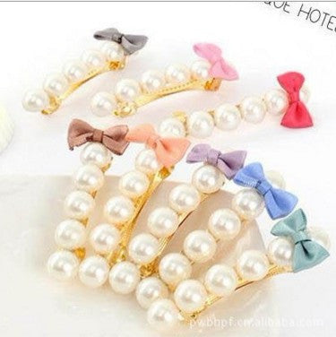 1Pairs/Pack New Pearl Barrettes For Woman Bow Hair Clip Beautiful Girl Fashion Hair Accessories Hairgrip Hair Ornament Hair Accessories Code Accessories Co., Ltd.- upcube