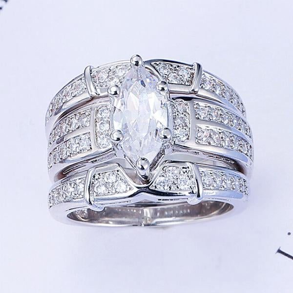 Super-luxury Fashion 925 Sterling Silver Engagement Ring Diamond Fully-jewelled Ring for Women Wedding Rings