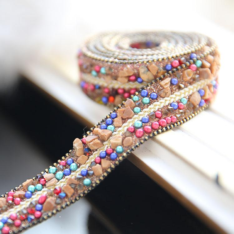Champagne handmade diamond belt, fashion belt