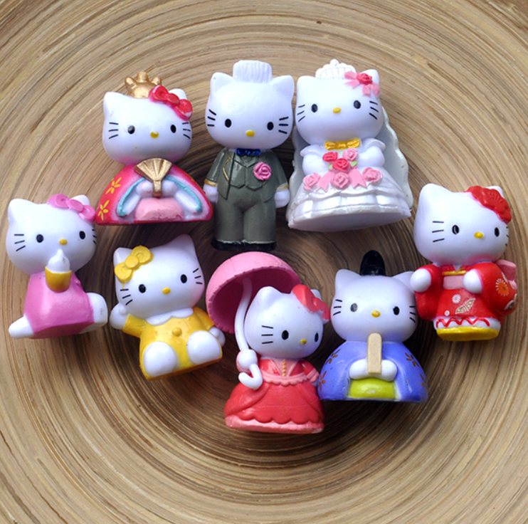 Hello Kitty Wedding Decoration Action Figures Toys Kids Gifts Doll Wedding Gifts