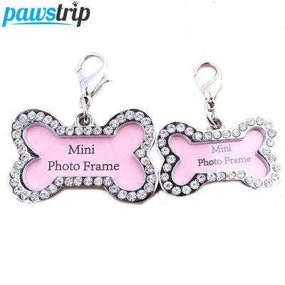 1pc Bone Shaped Pet Tag Set Lost Dog Id Address Name Label Tag Stainless Dog Puppy Pendant Dogs pawstrip Store- upcube