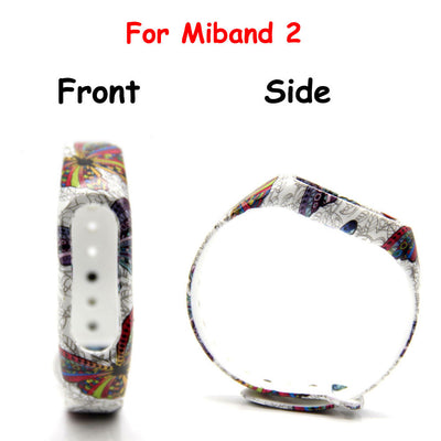 1pcs Blue Flower Wristband  for Xiaomi Mi Band 2 Strap Smart Wristband for Mi band 2 Bracelet  Band Smart Wristbands Shop1026184 Store- upcube