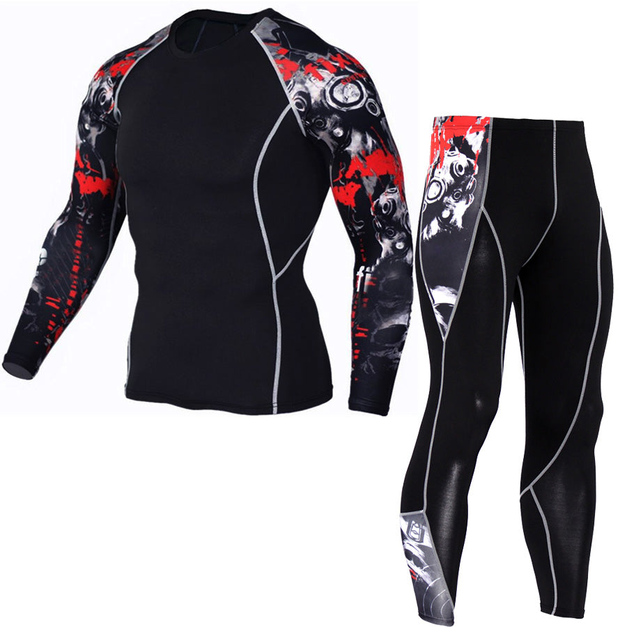 1set=tops + pants / Europe's compression Men's quick-drying breathable Long Johns Underwear Leggings KAI KE's store- upcube