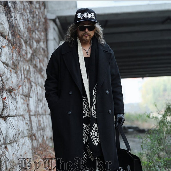 2015 Autumn winter College style street retro do old woolen jacket coat men Long section casual loose  Wool overcoat men M-2XL Coat men Parity store- upcube
