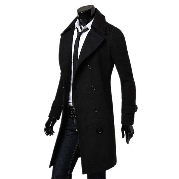 2015 Hot Sale New Fashion trench coat men Long Coat Suit Men Wool Coat Men Overcoat Outerwear Coat Man's World Clothing Store- upcube