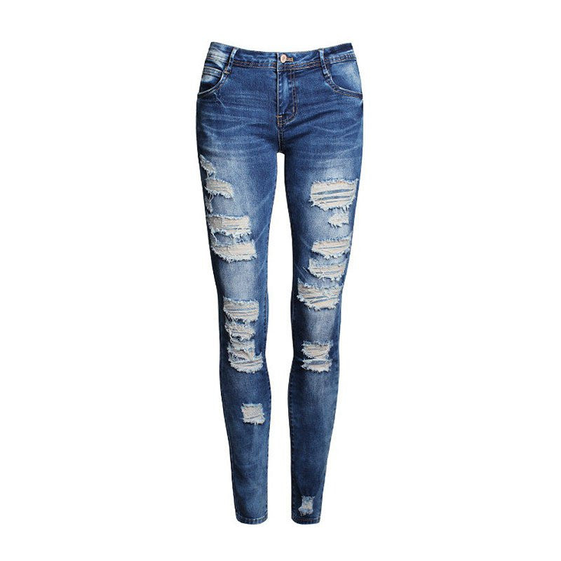 2016 Fashion Ladies Cotton Denim Pants Stretch Womens Skinny Jeans Denim Jeans For Female Jeans Yancey- upcube