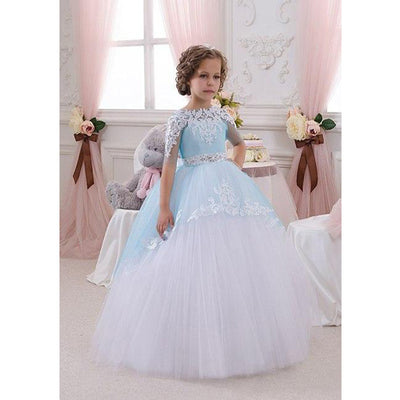 2016 Flower Girl Dresses Holy Communion Dress Kids Evening Gowns Pageant  For Weddings Girls Glitz Ball bc1ed09f771f