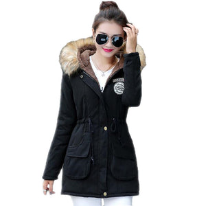 2016 New Long Parkas Female Womens Winter Jacket Coat Thickening Cotton Warm Jacket Womens Outwear Parkas Plus Size Fur Coat